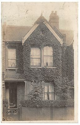 Unknown terraced house - old postcard
