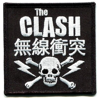 THE CLASH skull & bolts Embroidered Iron On PATCH *Free Shipping* london calling