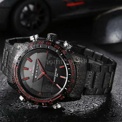 Naviforce Luxury Stainless Steel Sport Analog Date Quartz Men's Wrist Watch 9024