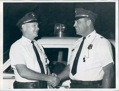 1968 Smiths Station Alabama Police Captain A McManious With Chief  Press Photo