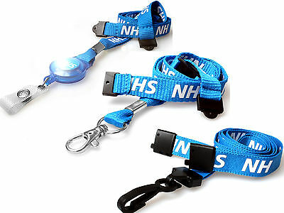 NHS Lanyard Neck Straps ID Card Holders with Safety Breakaway FREEPOST