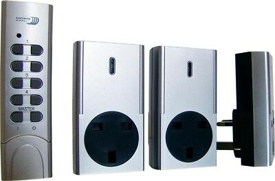 Byron Home Easy Remote Control 3 Pack Socket Kit in Silver HE830S