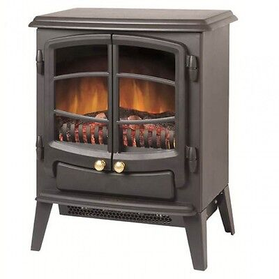 Dimplex EWT20 Branded 1kW or 2kW OptiFlame Electric Stove Free Standing Black