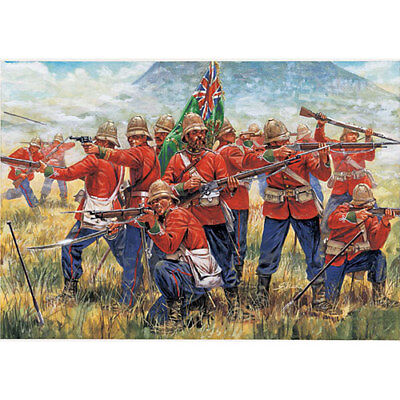 ITALERI 6050 Zulu Wars - British Infantry 1:72 Figures Model Kit