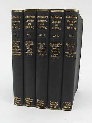 Architecture, Carpentry & Building - Five Volumes - American Technical Society