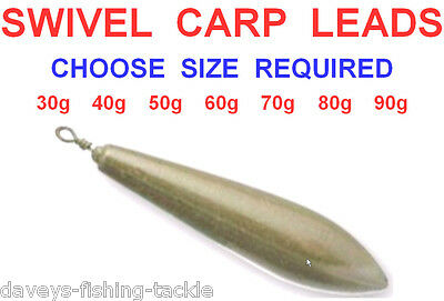 10 Camo Distance Carp Swivel Leads Weights Coarse Sea Fishing Tackle Rigs Lures
