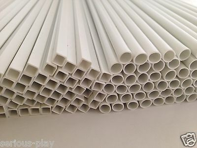 5x Styrene Strip -Model Building Tube Section Architecture Plastrukt Evergreen