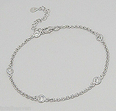 """7-8.5"""" (21cm) Solid Sterling Silver Sparkling By The Yard Bracelet 4mm Dainty!"""