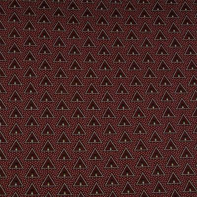 Rosewood Red & Silver Gray Triangles, Quilting Apparel Cotton Fabric, BTHY