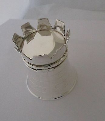 English Sterling Castle Shaped Gift/Ring Box Birmingham Barrowclift Silver Co.