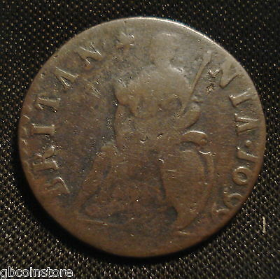 Rare 1699 Unbarred A's William Iii Farthing Date In Legend No Stop Spink 3558