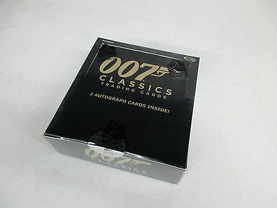 2016 James Bond Classics Factory Sealed Box with Promo P1 - 2 Autographs Inside!