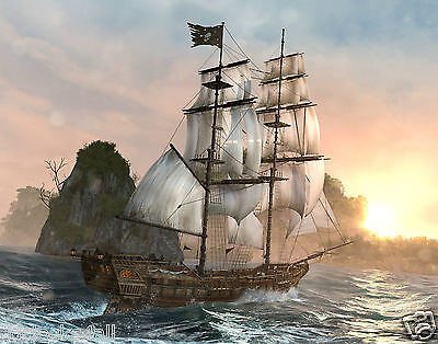 Pirate Ship  11 x 14 / 11x14 GLOSSY Photo Picture IMAGE #2