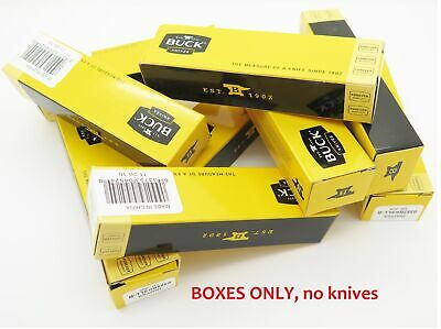 "LOT of 12 BUCK 4.5"" long KNIFE BOX FOLDING POCKET KNIFE THE 55 505 503 301"