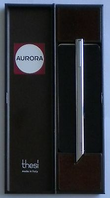 Vintage Aurora Thesi Ball Point Pen Used + Box & Papers Made In Italy