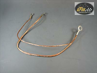 Earth cable Motor for Frame Copper braided Lambretta