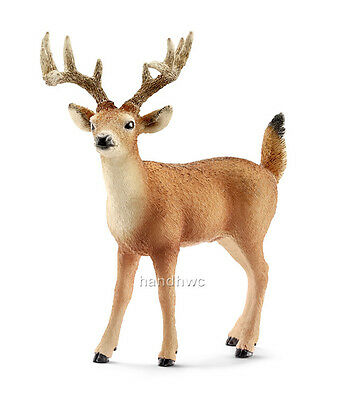 Schleich 14709 White-tailed Buck Deer Toy Wild Animal Figurine - NIP