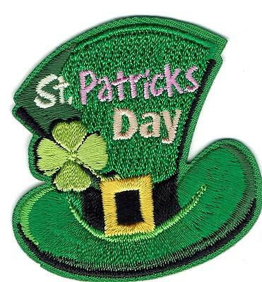 Girl Boy Cub ST. PATRICK'S DAY HAT Fun Patches Crests Badges SCOUTS GUIDE party