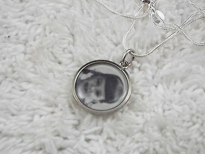 Sterling Silver Photo Holder Pendant Necklace (A55)