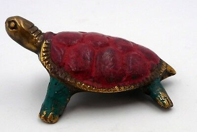 TORTUE en BRONZE ANCIEN ANTIQUE ARTISANAT INDONESIE