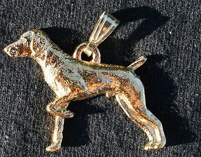 GERMAN SHORTHAIRED POINTER Dog 24K Gold Plated Pewter Pendant Jewelry