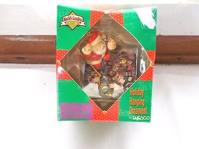 NOS 1997 Enesco Hasbro Trivia Pursuit Game Board Santa Christmas Ornament