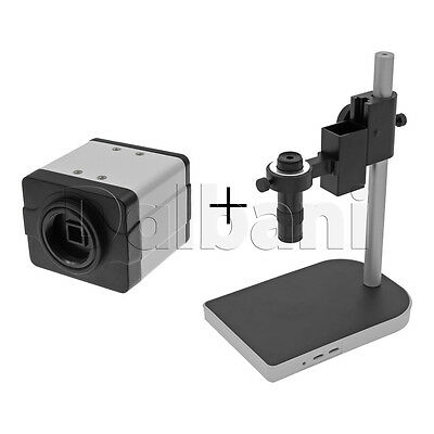 New Digital Microscope Camera Body with Stand & Lens 2MP 1280x720 White C-Mount