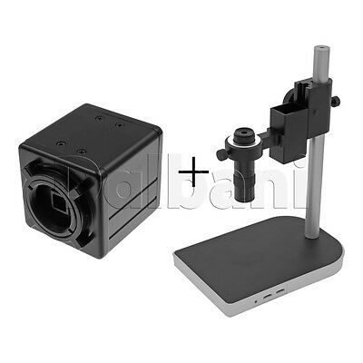 New Digital Microscope Camera Body with Stand and Lens 2MP Black C-Mount