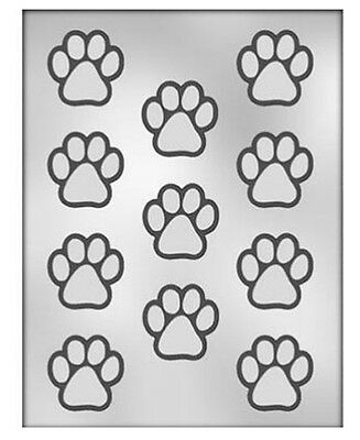 CK Small Paw Print Cat Dog Tiger Lion Panther Clear Chocolate Candy Sheet Mold