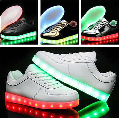 New Men Women LED Light up Shoes Trainers Sneakers Kids Casual Shoes USB Charge