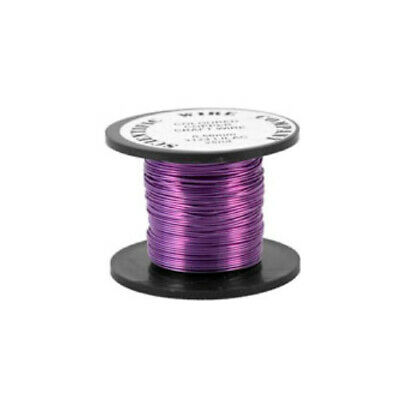 1 x Lilac Plated Copper 0.5mm x 15m Round Craft Wire Coil W5124
