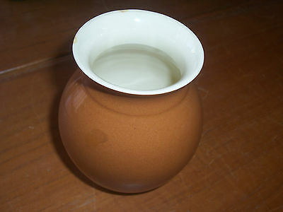 Small Signed Australian Martin Boyd Studio Brown Glazed Pottery Vase