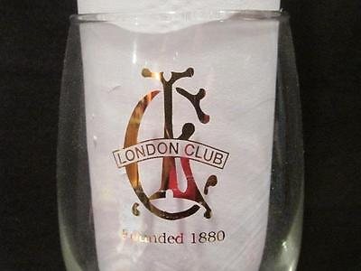 London Club Founded 1880 Water or Wine Goblet with stem & gold logo