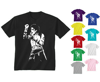 Kids Childrens Michael Jackson King Of Pop Icon T-shirt Age 5-13
