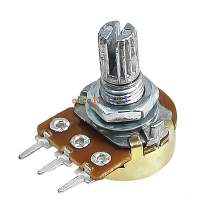 10Pcs WH148 Type B1K Ohm Linear Taper Rotary Potentiometer Panel Pot 3 Pin
