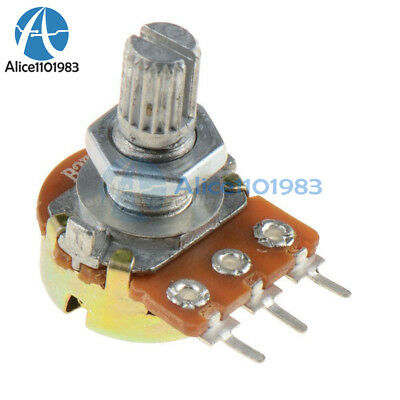 5Pcs WH148 Type B1K Ohm Linear Taper Rotary Potentiometer Panel Pot 3 Pin