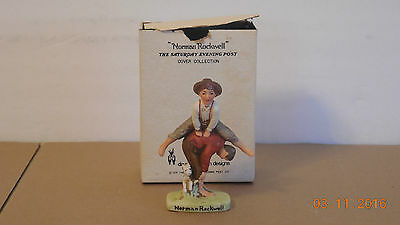 Norman Rockwell Saturday Evening Post  Leap Frog Figurine Dave Grossman 1979