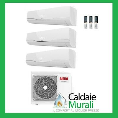 Climatizzatore Riello Inverter Trial Split Aaria Plus 9000+9000+9000 Btu 9+9+9