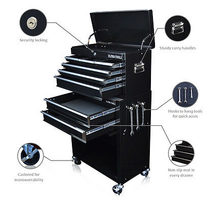 311 Us Pro Tools Black Tool Chest Box Roller Cabinet Drawer Dividers Cover