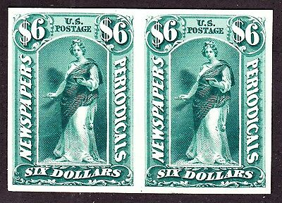 US PR26TC3i $6 Newspapers & Periodicals Trial Color India on Card Pair Green 001