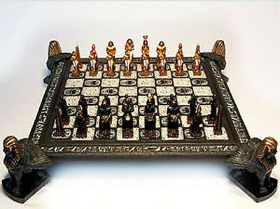 *NEW IN BOX* Veronese Egyptian Feature Chess Pieces Set & Sphinx Board