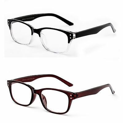 Clear Lens Glasses Horn Rim Frame Style Non Prescription Unisex