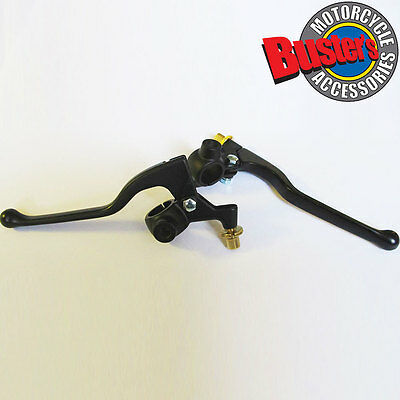 New Black Universal Motorcycle Motorbike Brake and Clutch Levers with Bracket