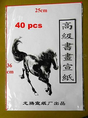 40pcs Xuan Paper Rice Paper For Chinese Painting And Calligraphy 36cm*25cm