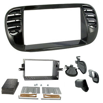 CT23FT13 Fiat 500 2007-15 Car Stereo Fascia Panel For Double Din Headunits