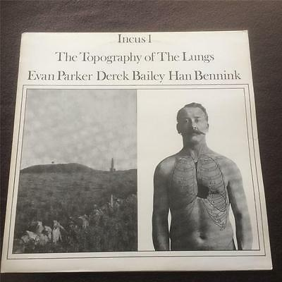 Evan Parker - The Topography Of The Lungs - Jazz Vinyl Lp 1977 Incus Reissue