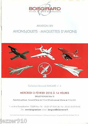 Catalogue Vente Drouot 2010 - Aviation 14 - Avions/jouets/maquettes - Boisgirard