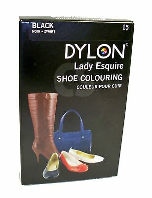 Dylon Lady Esquire Black Shoe Dye  Boots Bags Belts