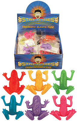 Stretchy Frogs Strechies Colored Children's Party Bag Pinata Loot Bag Prz Toy UK