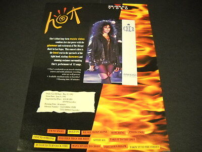 CHER is Hot with EXTRAVAGANZA Live At Mirage PROMO DISPLAY ADVERT mint condition